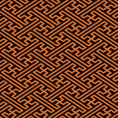 Tecido Tricoline Geométrico Laranja