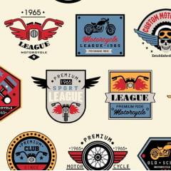 Clube de Motociclista bege