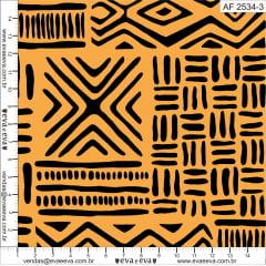 Tecido Tricoline Africa Amarelo