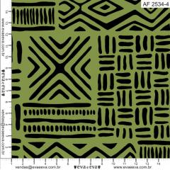 Tecido Tricoline Africa Verde