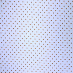 Tecido Tricoline Poá Laranja com Branco