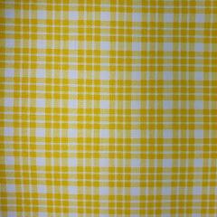 Tecido Tricoline Xadrez Amarelo