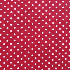 Tecido Tricoline Poá Medio Vermelho com Branco Peripan