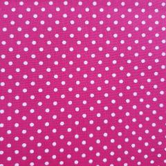 Tecido Tricoline Poá Pink Peripan