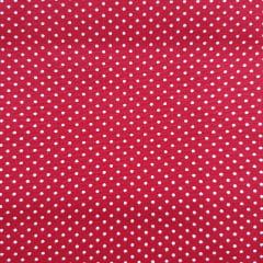Tecido Tricoline Poá Vermelho com Branco Peripan
