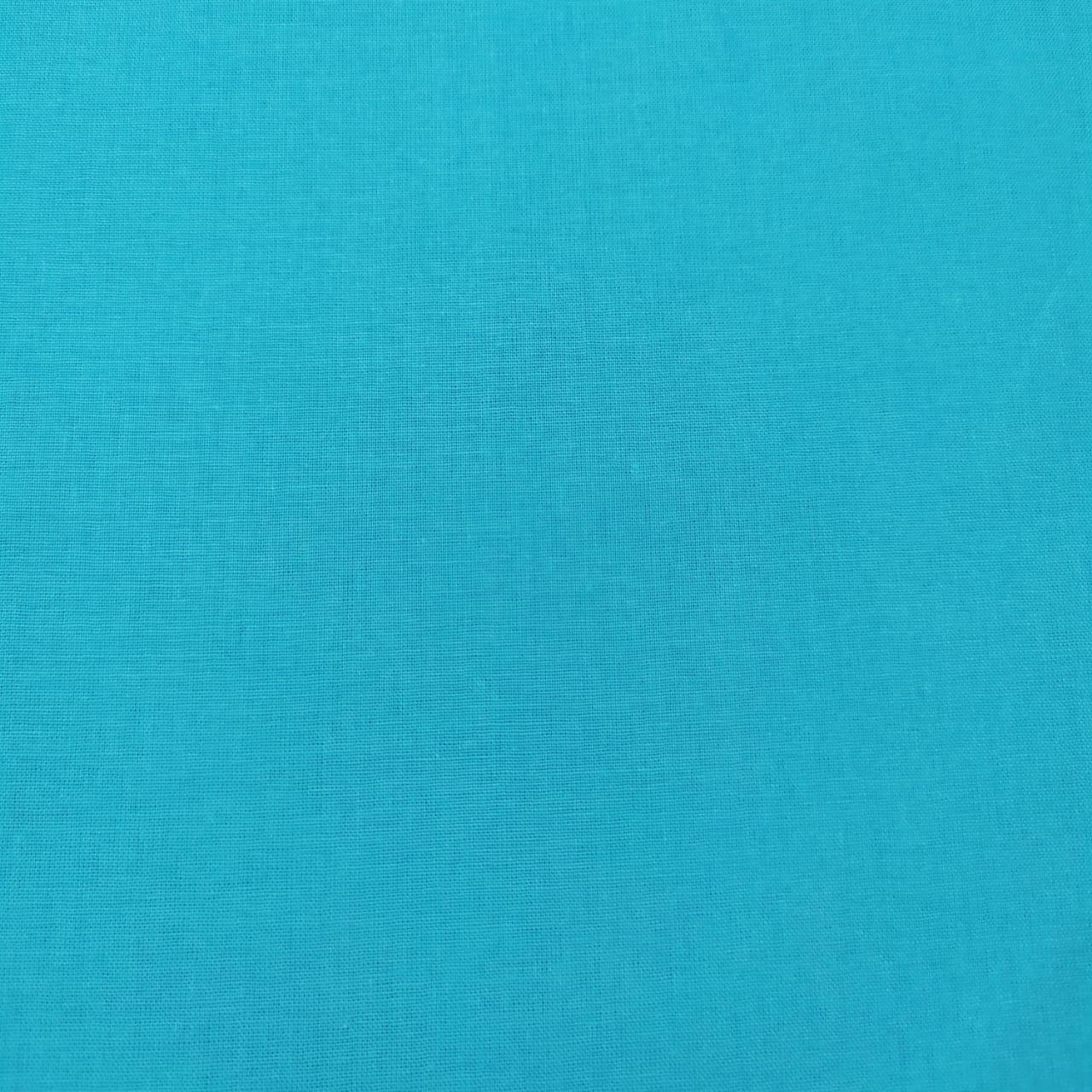 Tecido Tricoline Lisa Azul Tiffany
