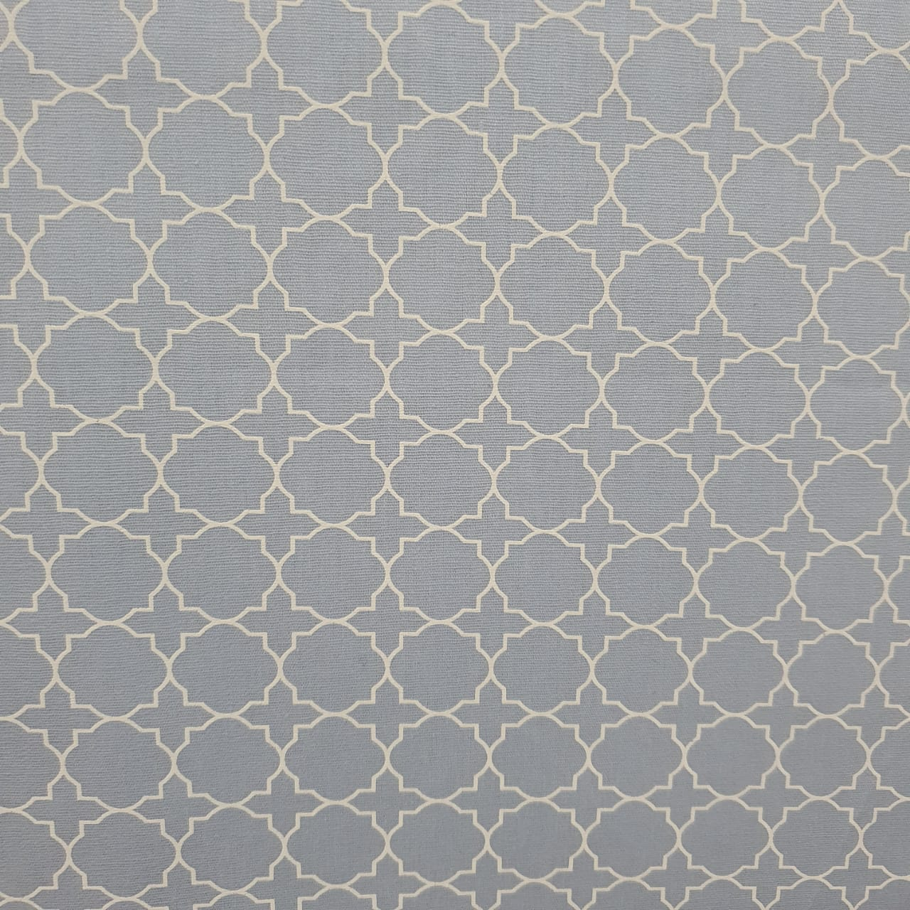 Tecido Tricoline Geometrico M Azul