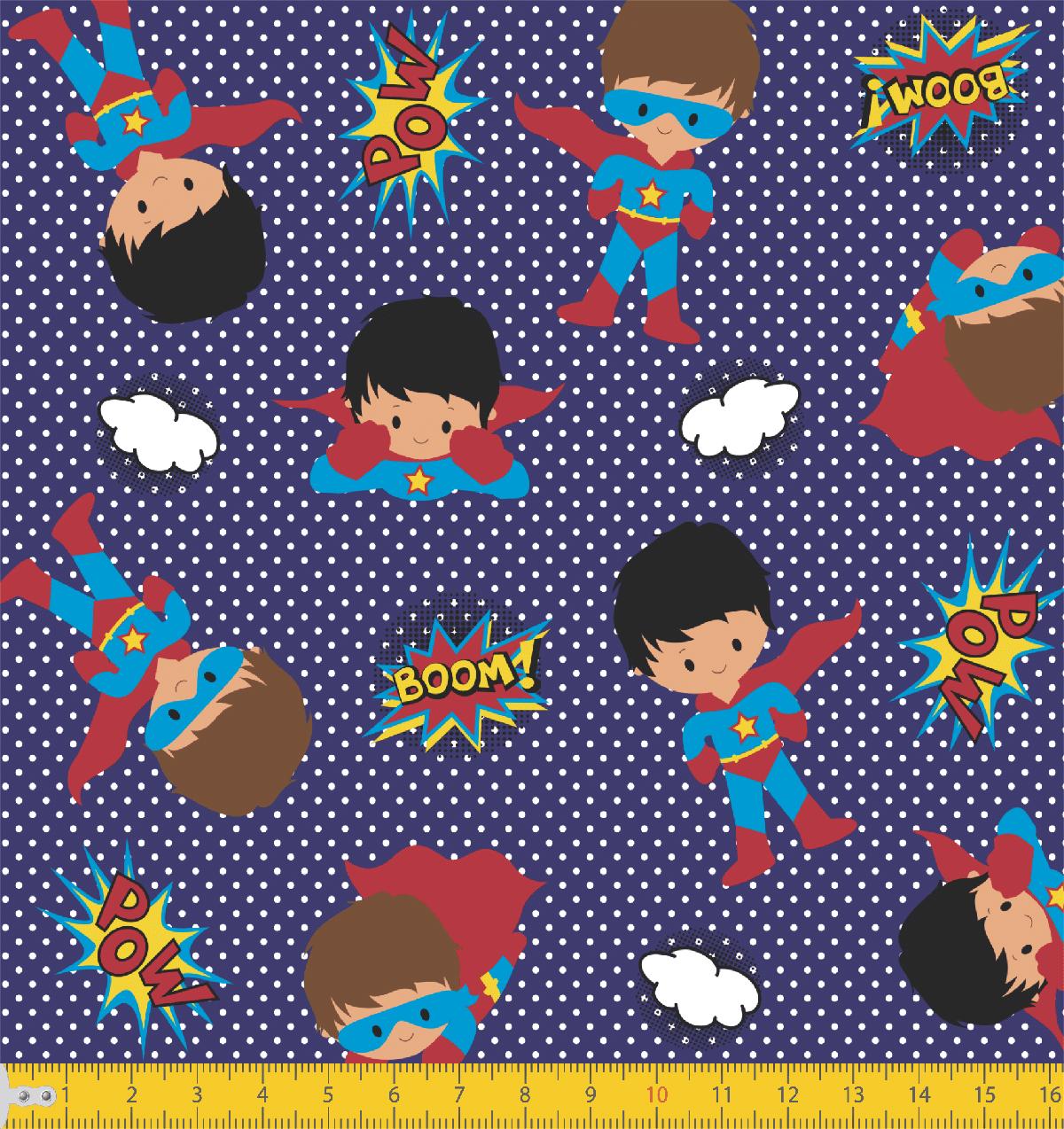 Tecido Tricoline Herói Kids