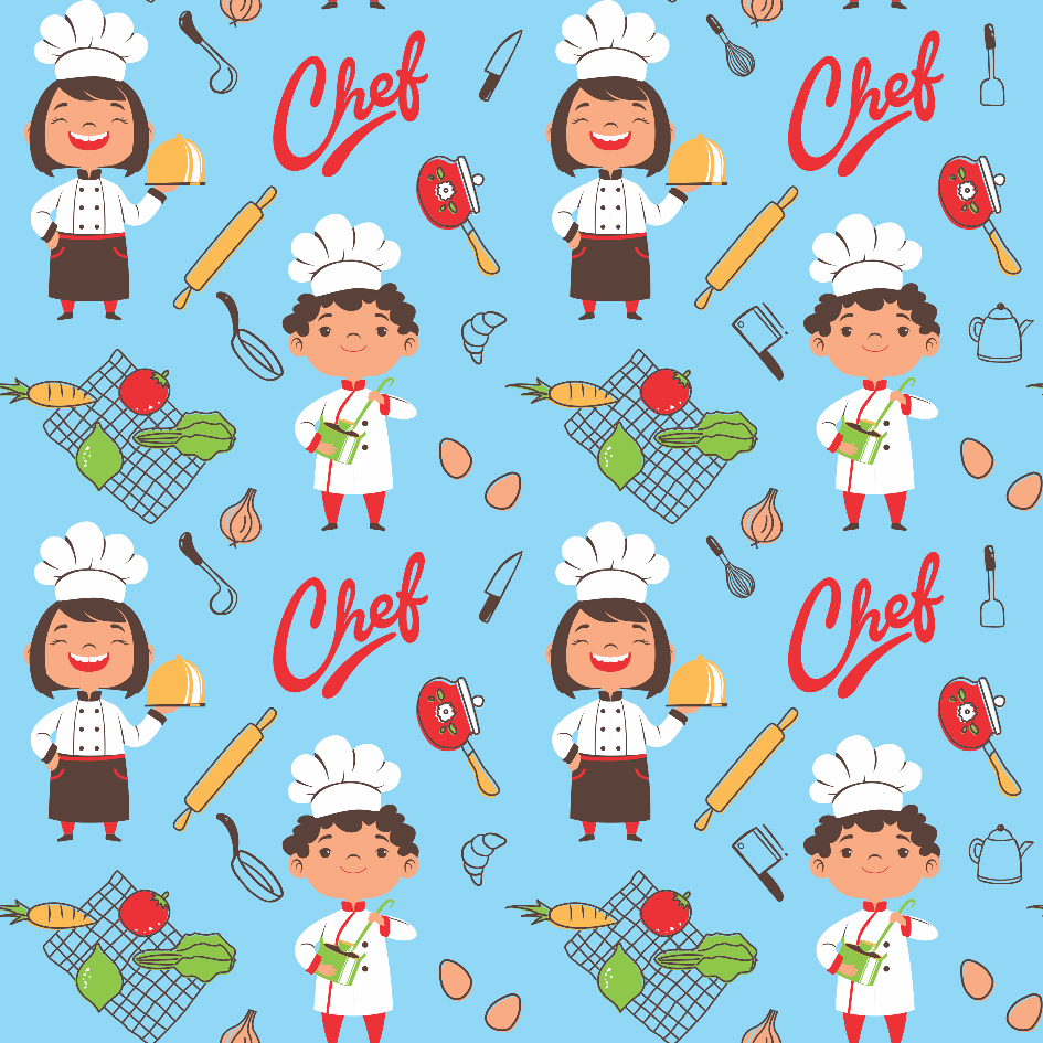 Tecido Tricoline Chef's
